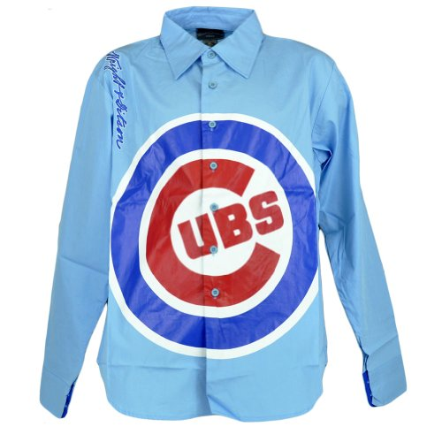 MLB De Ga Chicago Cubs Collar Dress Shirt Long Sleeve Button Up Mens Size Large at Amazon.com