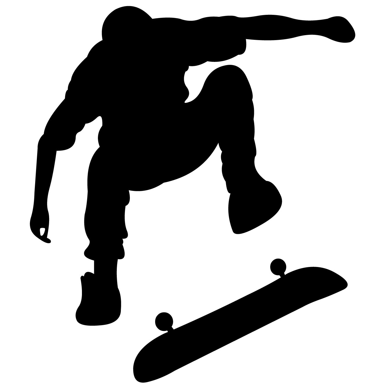 Silhouette de Skate images