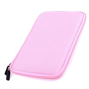 "DURAGADGET ""Tough"" Pink Hard Clam Shell Style Cover With Soft Felt Interior For SANEI n77 fashion 3D, Cambridge Sciences G7 Wafer & ePad - Android 2.2 Tablet with 7 Inch Touchscreen + Wifi + 3G Capability at Electronic-Readers.com"