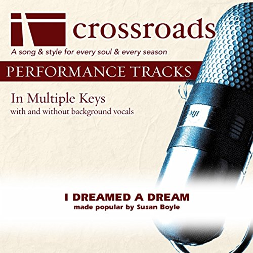 I Dreamed A Dream (Performance Track Low With Background Vocals In C)