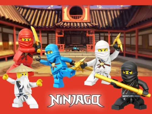 NinjaGo Group ~ Edible Image Cake / Cupcake Topper
