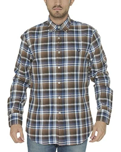 Fred Perry Camisa Hombre Marrón