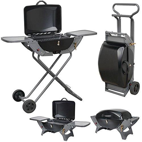Pliant Barbecue à gaz pour pique-nique, Barbecue valise Portable double Cuisinière de...