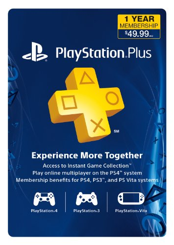 Best 1-Year PlayStation Plus Membership - PS3/ PS4/ PS Vita [Digital Code]