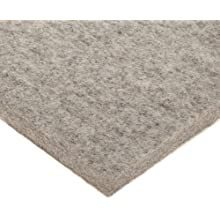 Felt Sheet, Gray, No Backing, Grade F7, Wool Content: 80% Minimum, Meets SAE F7 Specifications, Inch