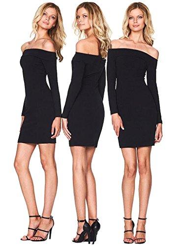 ALAIX-Moda-elastico-spalle-donna-pro-Fornitura-abito-da-sera-sexy