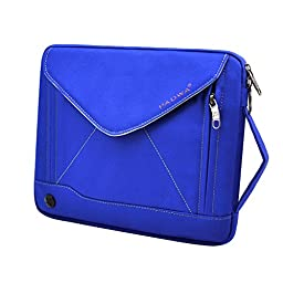 Padwa Lifestyle Shockproof Soft Sleeve Pouch Carrying Envelope Bag Case with Handle Shoulder Strap Zipper for iPad Air2/ iPad Air/ iPad 4/ iPad 3/ iPad 2/ iPad Samsung 10.1 Inch Tablet PC (Blue)