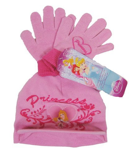 Princess Girls Knitted Hat And Gloves Set