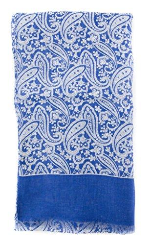 new-cesare-attolini-blue-linen-scarf