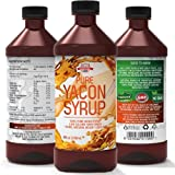 Yacon Syrup - 100% Pure Yacon Root - Raw Organic Sugar Substitute That Burns Belly Fat - Fast Metabolism Booster and Natural Appetite Suppressant - Lose Weight with the Best Weight Loss Supplement - Yacon Syrup Was Featured on Dr. Oz - 30 Day Satisfaction Guarantee