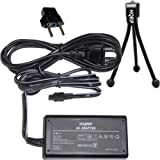 51VqrS3lRpL. SL160  HQRP Replacement AC Power Adapter compatible with Sony HandyCam DCR DVD103, DCR DVD105, DCR DVD108, DCR DVD203, DCR DVD205, DCR DVD305, DCR DVD308 Camcorder   (incl. USA Plug & Euro Adapter) plus HQRP Black Mini Tripod