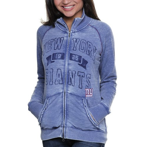 Touch by Alyssa Milano New York Giants Ladies Star Athlete Vintage Slim Fit Track Jacket - Royal Bl at Amazon.com