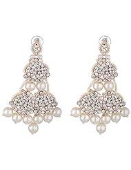 Bel-en-teno White Alloy Earring Set For Women - B00PY9XUM2