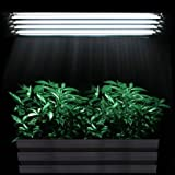 Pandamoto Hydroponics T5 Propagation Grow Light 4x54W 6500K CFL Tube Reflector Kit
