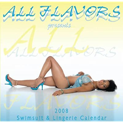 All Flavors Swimsuit and Lingerie 2008 Wall Calendar