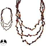 Sg Paris Fashion Jewellery Necklace Women's Wood Brown