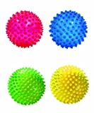 Edushape See-Me Sensory Balls, Translucent, 4 Count, Assorted Colors
