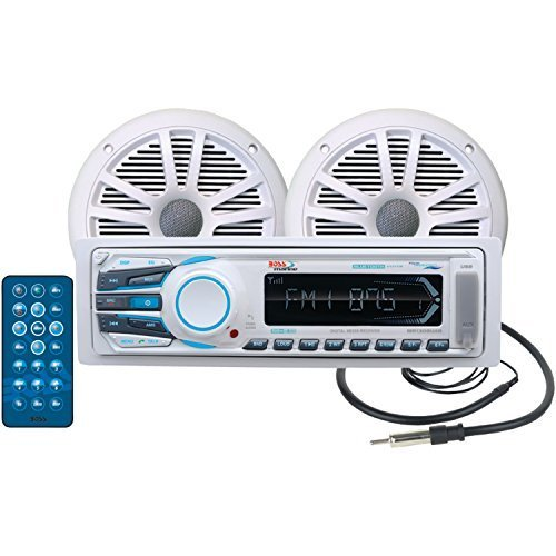 boss-audio-mck1308wb6-marine-package-includes-mr1308uab-single-din-am-fm-mechless-bluetooth-receiver