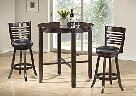 """CAPPUCCINO ASH VENEER 42""""DIA BAR HEIGHT DINING TABLE (SIZE: 42L X 42W X 42H)"""