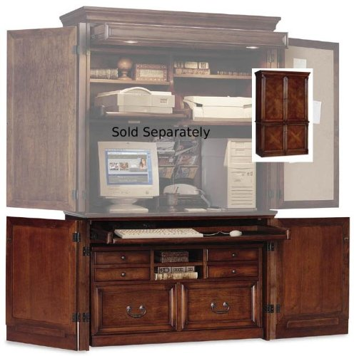 Picture of Comfortable %%Kathy Ireland Computer Armoire Base - Mount View - IMMV550-2 (Dark Cherry) (47
