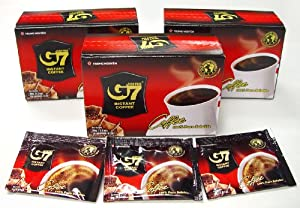 G7 Black Instant Coffee, 3-pack, 45 Servings from Trung Nguyen