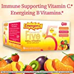 Emergen-c ® Five Calorie, 90 Packet Variety 30 Packets Each - Mandarin Orange, Peach-passion Fruit, Strawberry-kiwi
