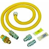 BrassCraft PSC1081 K5 Safety Plus Gas Installation Kit for Dryer and Range