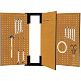 "16""x24"" 3 Pc Moveable ""swinging Door"" Peg Boards For Tool Storage On Both Sides"