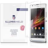 iLLumiShield - Sony Xperia SP Screen Protector Japanese Ultra Clear HD Film with Anti-Bubble and Anti-Fingerprint - High Quality (Invisible) LCD Shield - Lifetime Replacement Warranty - [3-Pack] OEM / Retail Packaging