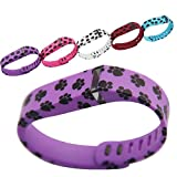 Purple Feet Replacement Wrist Band for Fitbit Flex(L size)