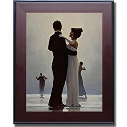 Dance Me to the End of Love by Jack Vettriano Premium Mahogany & Black Framed Canvas (Ready-to-Hang)