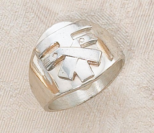 Sterling Silver Franciscan Tau Ring Size 9 Fine