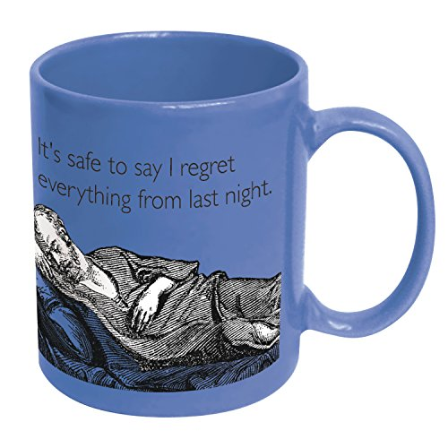 Icup Someecards Its Safe To Say I Regret Everything Coffee Mug, Ocean Blue