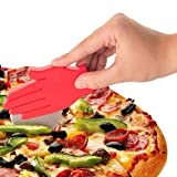 Hand Shaped Plastic Pizza Slice + Cake / Cookie Knife Cutter - Kitchen Gadgets Accessories