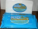 Medline ReadyFlush X-Large 9x13 Personal Cleansing Cloths - Tub of 60 Flushable Wipes + 2 Refill Packs