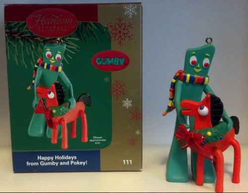 Carlton Heirloom Collection Gumby 'Happy Holidays from Gumby and Pokey!' - 2004