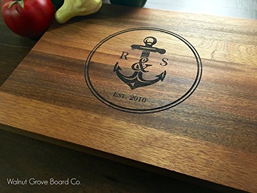 nautical anchor personalized cutting board newlywed gift anniversary gift wedding gift bridesmaid christmas gift for her gifts newlyweds mom says its