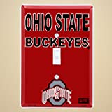 Ohio State Buckeyes Metal Light Switch Cover