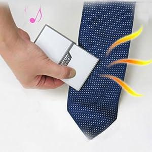 BestOfferBuy Reisen Taschen Kartenstil Kleidung Eisenhemd Krawatte Silber USB