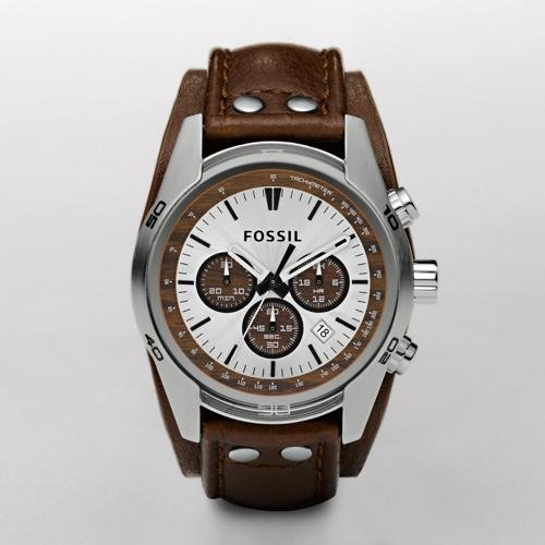 Fossil Cuff Leather Watch Tan