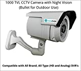 VIEWEVER 1000TVL CCTV Camera with Night Vision (Bullet)