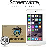 iloome Apple iPhone 6 Plus 5.5in (White) The All New ScreenMate Real Tempered Glass 9H Hardness [CASE FRIENDLY] Premium Screen Protector with Rounded Edges and Oleophobic Coating [LIFETIME WARRANTY]