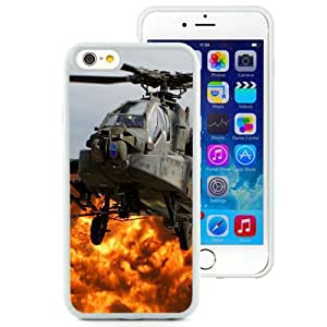 6 Phone cases, Ahd Apache Helicopter Blades Cabin Eplosion Fire White iPhone 6 4.7 inch TPU cell phone case