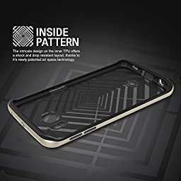 Galaxy S6 Edge Case, Obliq [Dual Poly Bumper] [Gold, Silver, Black] Thin Slim Fit Bumper Armor Scratch Resist Polycarbonate Finish Dual Layered Heavy Duty Hard Protection Hybrid High Quality Cover (for Samsung Galaxy S6 Edge)