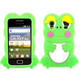 Frog Silicone Case Cover Skin For Samsung Galaxy Ace S5830 / Green