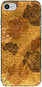 The Racoon Grip Gold Vintage Floral hard plastic printed back case/cover for Apple Iphone 7