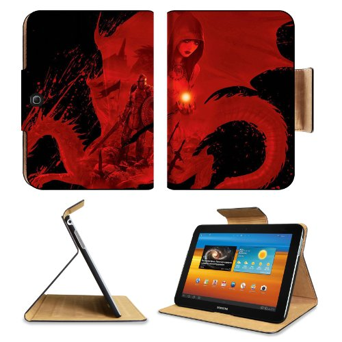 Dragon Age Origins Artwork Worriers Samsung Galaxy Tab 3 10.1 Flip Case Stand Magnetic Cover Open Ports Customized Made To Order Support Ready Premium Deluxe Pu Leather 9 7/8 Inch (250Mm) X 7 1/4 Inch (183Mm) X 11/16 Inch (17Mm) Luxlady Galaxy Tab3 Cases front-608607