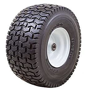 "Marathon Industries 30426 15x6.50-6"" -Inch Flat Free Tire with Turf Tread - 3"" Centered Hub - 3/4"" Precision Ball Bearings from Marathon Industries"