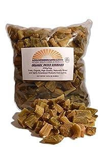 100% Organic Dried Rhubarb Pieces 450g Bag (15.9oz)