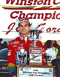 Jeff Gordon Signed Photograph - 1995 WINSTON CUP TROPHY 11X14 COA - Autographed... by Sports Memorabilia